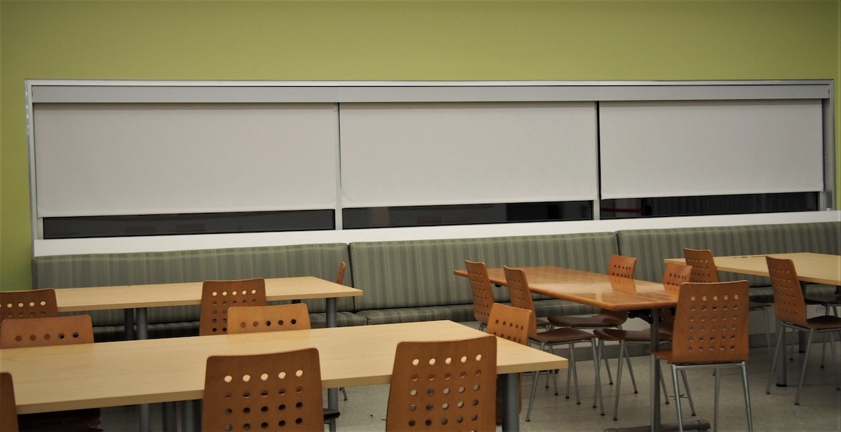 Commercial Solar and Roller Shades in School